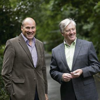 Newstalk colleagues Ivan Yates and Pat Kenny