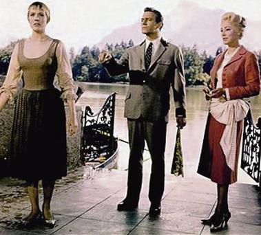 ICILY ELEGANT: Eleanor Parker (right) with Christopher Plummer and Julie Andrews in 'The Sound of Music'