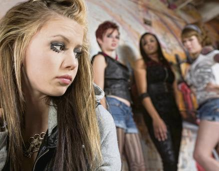 The teenage years can be a terrible time. Picture posed by models