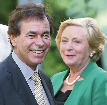 SWAP: Alan Shatter and Frances Fitzgerald. Photo: Damien Eagers