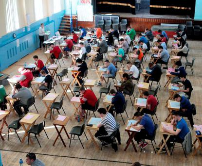 Leaving Certificate students taking the English paper last year