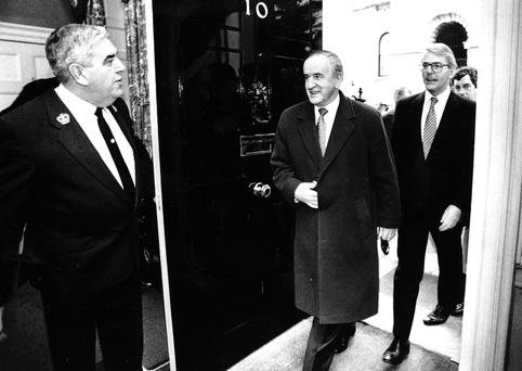 Getting Down to Business: John Major and Albert Reynolds arriving at 10 Downing Street