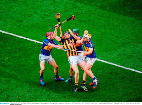 It was described as one of the best games of all time when Kilkenny met Tipperary earlier this month. Walter Walsh, pictured above Kilkenny, in action against Tipperary players, left to right, Paddy Stapleton, Cathal Barrett, and Pádraic Maher at Croke Park.
