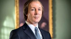 Actor Aiden Gillen as former Taoiseach Chariles Haughey in the RTE drama 'Charlie'