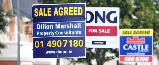 In Dublin property prices rose 1pc. Photo: Aidan Crawley