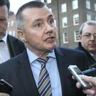 Willie Walsh, chief executive of International Airlines Group, speaking to journalists as he left Leinster House last week after his meeting with the Oireachtas Committee on Transport. Photo: Frank McGrath
