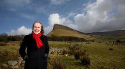 Predicting the phoenix: John Waters in Sligo, under Ben Bulben. 'The guy in the tractor in Foxford or Cappoquin is not impressed by Paul Murphy or Ruth Coppinger... Irish politics will never go Left-Right, because we are too aware of our vulnerability to events. Photo: Brian Farrell.