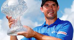 Padraig Harrington earlier this week, after winning the Honda Classic at Palm Beach, Florida. Photo: Sam Greenwood/Getty