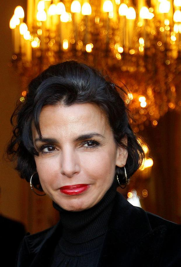 ZIPPING BACK TO WORK: Former French justice minister Rachida Dati