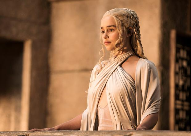 Emilia Clarke as Daenarys Targaryen in Game of Thrones