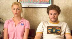 BUT IS HE FATHER MATERIAL?: Alison, played by Katherine Heigl, decides to give Ben, Seth Rogen, a chance when she gets pregnant by him, despite the fact he's an irresponsible slacker. Nearly 18pc of Irish women in their mid-40s are childless