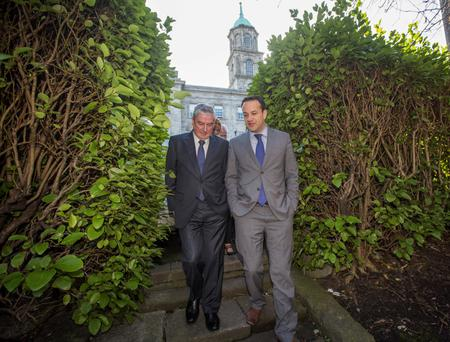 Health Minister Leo Varadkar and Don Gallagher, CEO of the Health Insurance Authority at the launch of a Public Information Campaign on the introduction of Lifetime Community Rating to the health insurance market