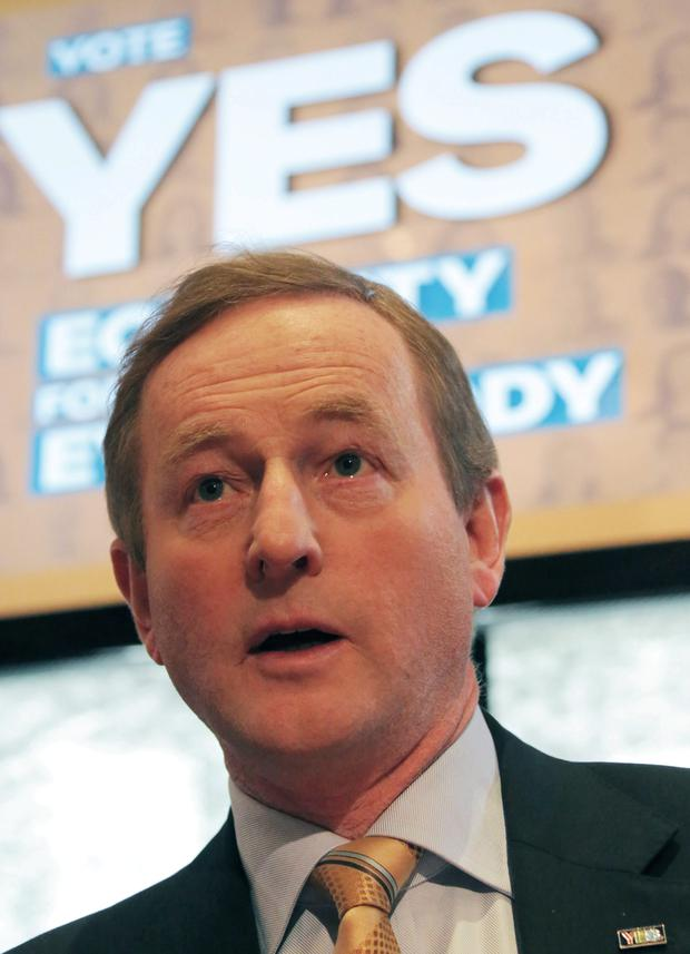 Enda Kenny at the launch of the Fine Gael Marriage Referendum