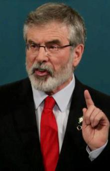"Sinn Féin President Gerry Adams said he is concerned that ""insider trading and political cronyism"" was at play."