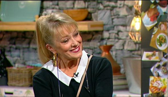 Twink co-hosted the 'Seven O'Clock Show', in Martin King's absence. Photo courtesy of TV3