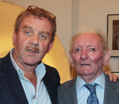 Michael Colgan with Brian Friel at the opening of Friel's version of Chekhov's 'Uncle Vanya' at the Gate Theatre in 2007