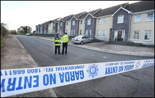HORROR: Scene of shooting in the sleepy village of Omeath, Co Louth, where Garda Tony Golden gave his life to protect Siobhan Phillips who was subjected to domestic violence