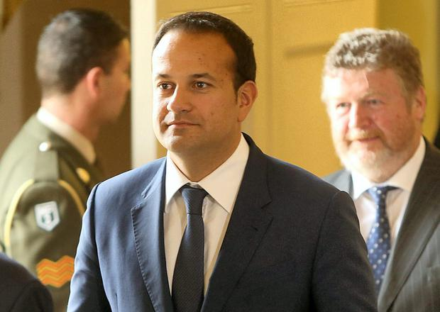 Former Health Minister James Reilly (right) and his successor Leo Varadkar who is to drop multi-payer insurance plan