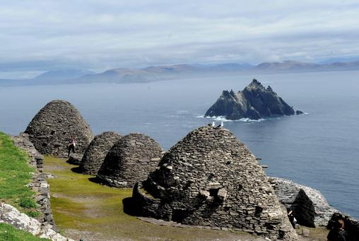 The haunting and beautiful Skellig Rocks off the coast of County Kerry. Photo: Don MacMonagle