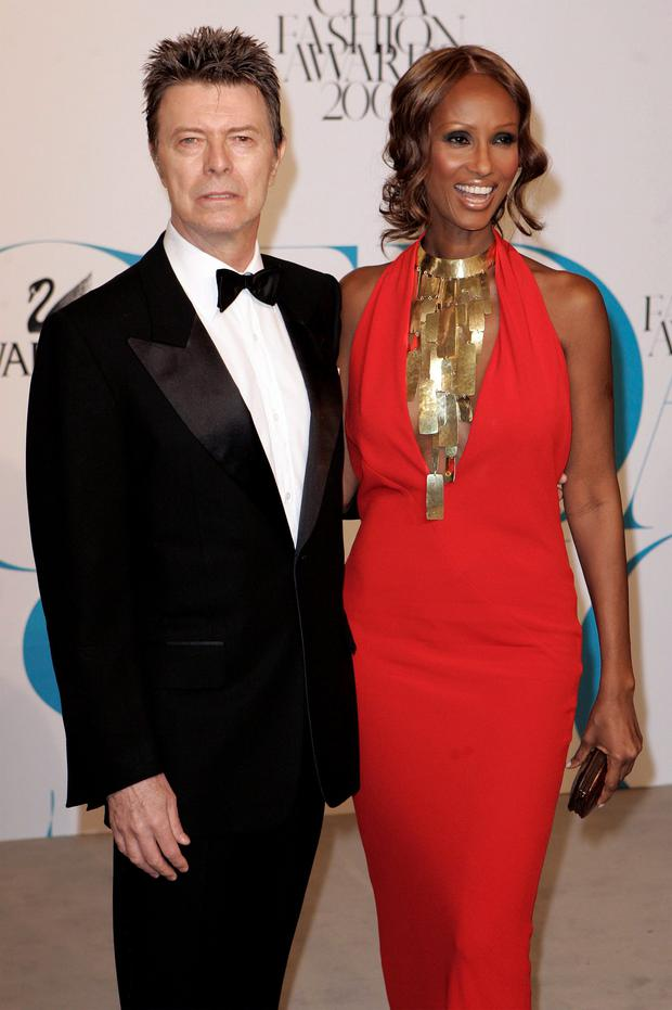 David Bowie and Iman. Photo: Reuters