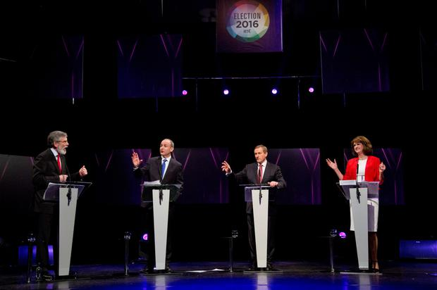 TIME FOR TALKING IS OVER: The leaders' debate is done and dusted so will Gerry Adams, Micheal Martin, Enda Kenny or Joan Burton sink or swim when the nation decides on Friday