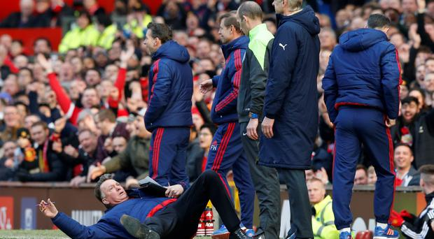'Last weekend, it was widely agreed that Van Gaal had undone all his bad work as manager of Manchester United by falling at the feet of Mike Dean' Photo: Reuters
