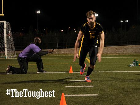 Swap: Mayo GAA footballer Aidan O'Shea trains with the NFL's San Diego Chargers in RTE show 'The Toughest Trade'.
