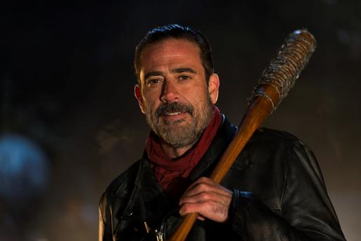 Bat man: Jeffrey Dean Morgan as Negan in 'The Walking Dead'.