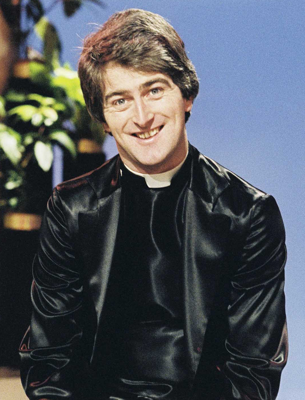 Ben's father Dermot Morgan as Fr Trendy on RTE in 1980