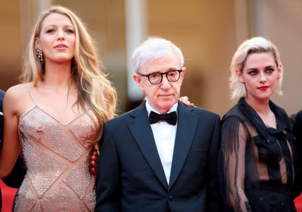 CANNES OR BUST: (left to right) Actress Blake Lively, director Woody Allen and actress Kristen Stewart