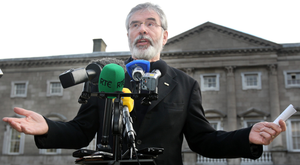 Taoiseach Enda Kenny told the Dáil that Sinn Féin is 'playing politics' with the housing issue and leader Gerry Adams is prejudging the outcome of the committee. Photo: Tom Burke