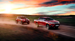 RUGGEDLY HANDSOME: The new Toyota Hilux has 'almost saloon-like comforts while doing the rough stuff'