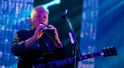 New Order performing on stage at the Electric Picnic