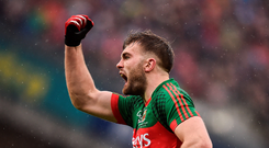 'I looked up at the darkened skies after the second one and am sure I felt supernatural forces. I imagined Aidan O'Shea rounding McMahon and heading straight for goal, only to turn into a mouse.' Photo: Sportsfile