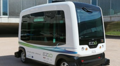NEXT STOP: A driverless bus developed by French firm EasyMile is to go into operation at a business park in California and a park in Singapore. The EZ10 is operated entirely autonomously and doesn't even have a steering wheel.