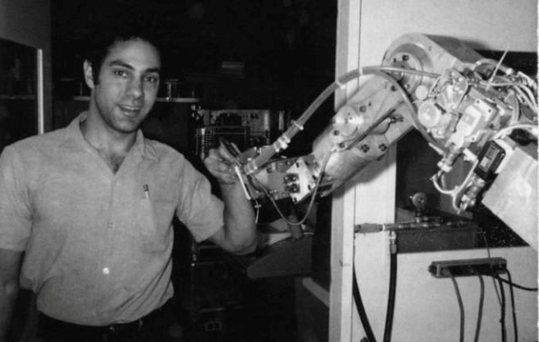 MY ROBOT: Victor Scheinman with a hydraulic arm. Photo: Bruce Baumgart/Stanford University Archivessensors