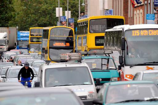 Almost 20pc of Ireland's greenhouse gas emissions come from transport (Stock picture)