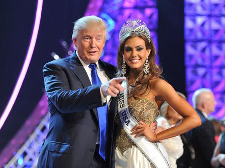 RESPECT? Donald Trump and Miss USA Erin Brady at the 2013 pageant. Photo: Jeff Bottari/AP