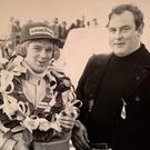WINNING TEAM: Derek McMahon (right) with Derek Daly
