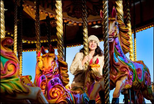 Victoria Mary Clarke having fun in Funderland in the RDS.