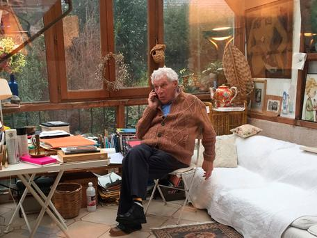 MANY TALENTS: Art critic and prize-winning author John Berger pictured by his son Jacob in the living room of his home in Paris in January 2016. Photo: AFP/Jacob Berger