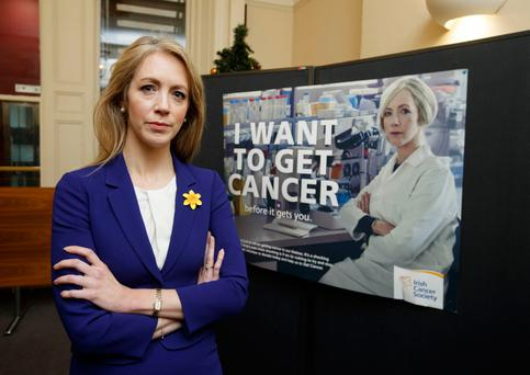 "Get this: Cancer researcher Dr Antoinette Perry during the launch by the Irish Cancer Society of its ""I Want To Get Cancer"" campaign. Photo: Andres Poveda"