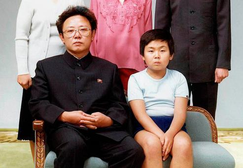 Father and son: Former North Korean leader Kim Jong-il with the 10-year-old Kim Jong-nam in Pyongyang in August 1981 Photo: AFP/Getty Images