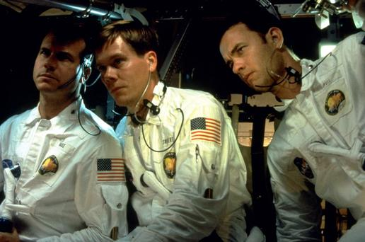 OUT OF THIS WORLD: Bill Paxton (left) starred alongside Kevin Bacon as an astronaut in 1995 space adventure 'Apollo 13'