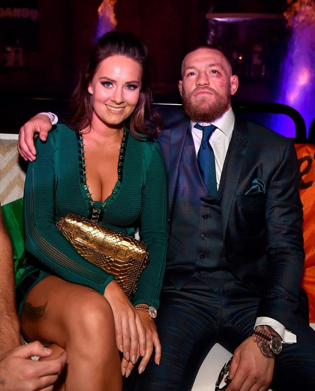 Conor with partner Dee