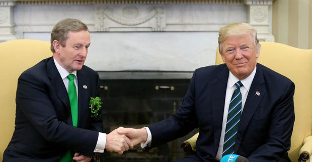 INVITATION: Taoiseach Enda Kenny meeting US President Donald Trump. Photo: Gerry Mooney