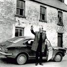 REMEMBERING: Bishop Eamonn Casey photographed outside his original family home in Firies near Killarney, Co Kerry, in 1974 — the year his son Peter was born. Photo: Don MacMonagle