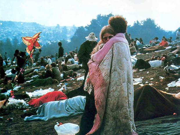 A couple at Woodstock in 1969