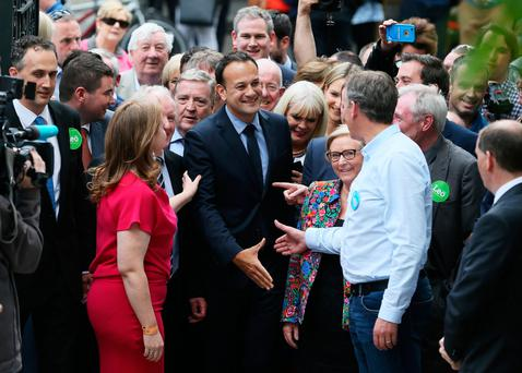 Hand over: Leo Varadkar is looking to hit the ground running as he takes over as Taoiseach. Photo: Brian Lawless/PA