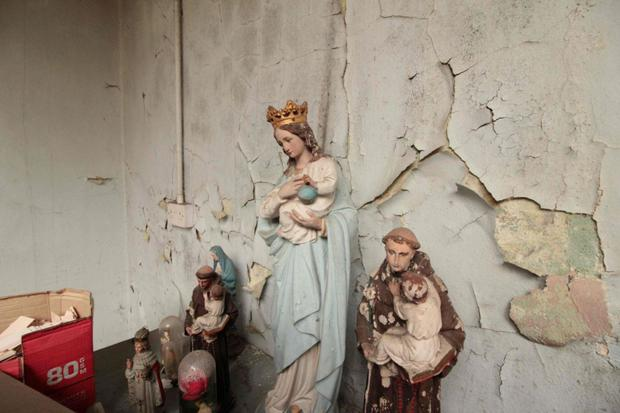 Statues left behind in a Magdalene laundry in Donnybrook